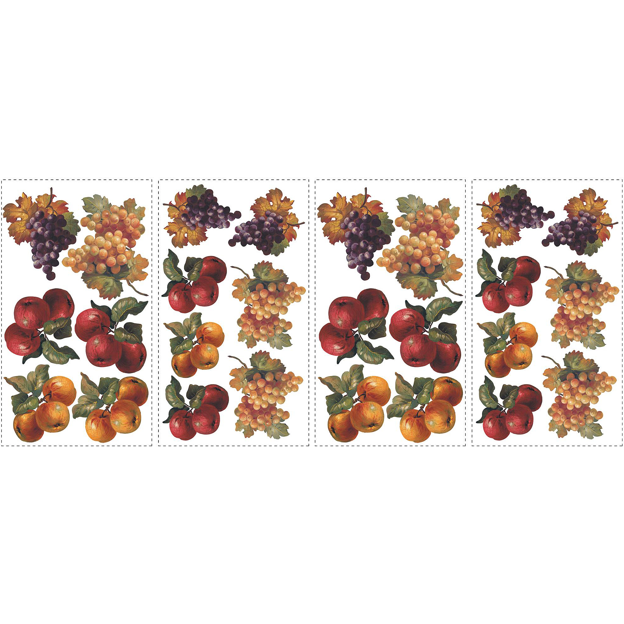 RoomMates Fruit Harvest Peel and Stick Wall Decals