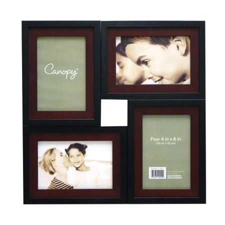 Canopy 4 Opening Collage Frame Black Walnut Walmart Com