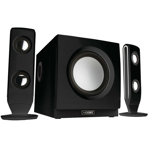 Coby CSMP77 75W High-Performance 2.1 Speaker System