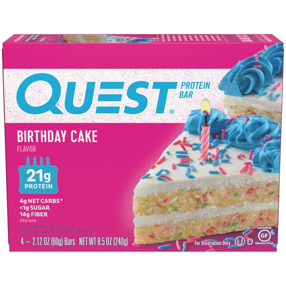 Quest Products Birthday Cake 4pk