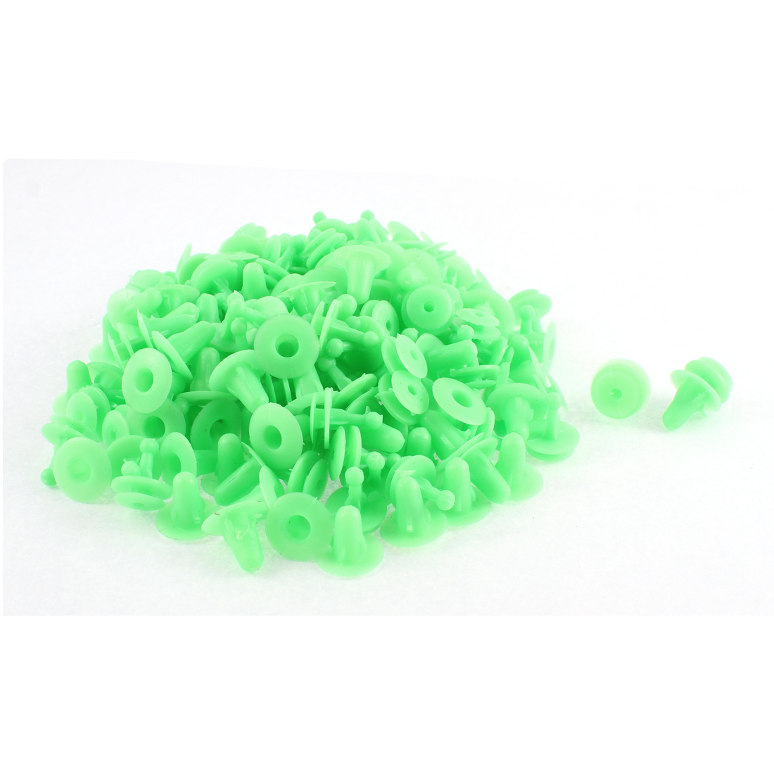 Unique Bargains 100 Pcs Green Plastic Push-Type Moulding Trim Panel Hood Rivet