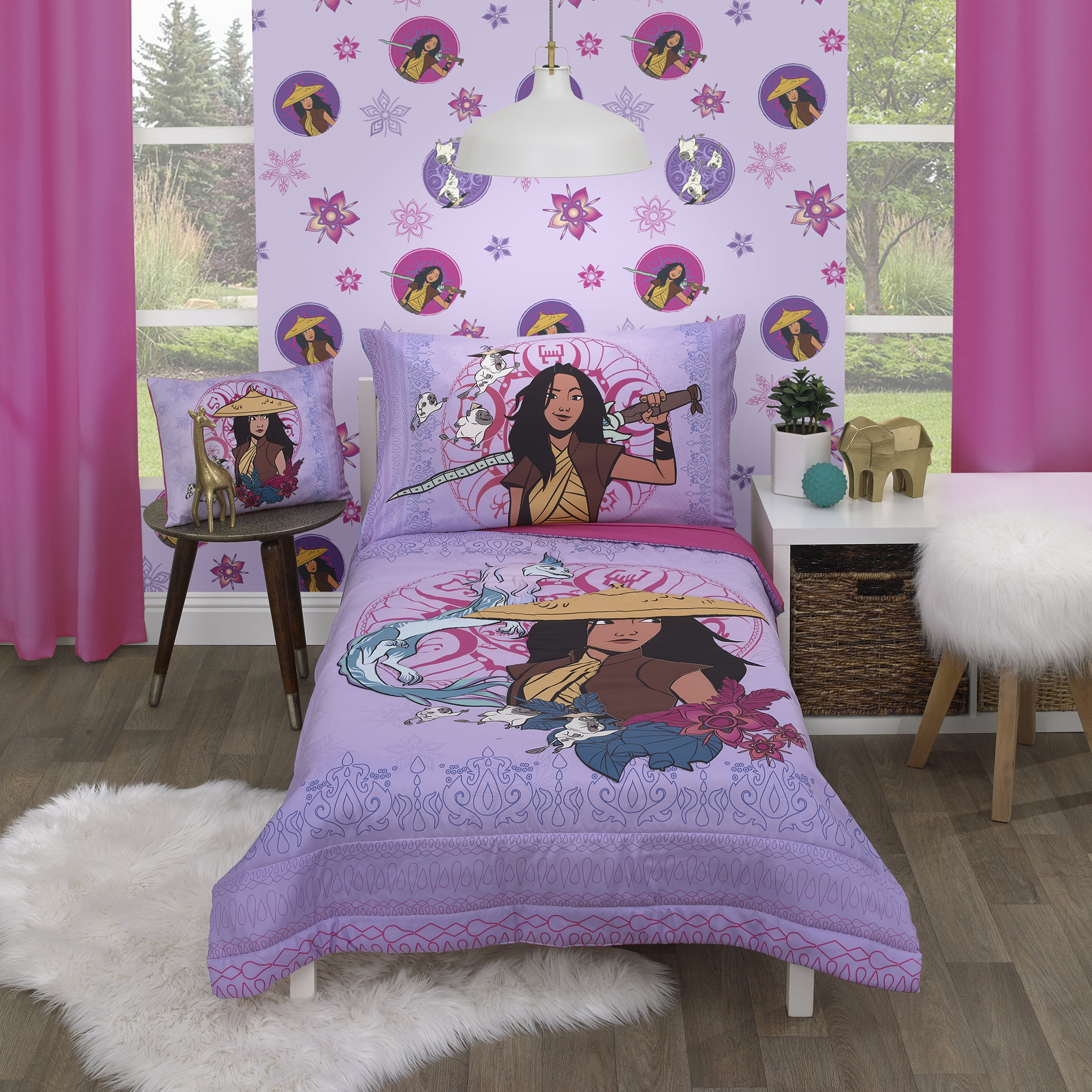 Official Disney Product Fade Resistant Microfiber Sheets 4 Piece Set Super Soft and Cozy Kid/'s Bedding Disney Raya /& The Last Dragon Eternals Queen Sheet Set