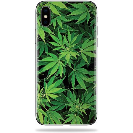 MightySkins Skin For Apple iPhone XS - Weed | Protective, Durable, and Unique Vinyl Decal wrap cover | Easy To Apply, Remove, and Change Styles | Made in the