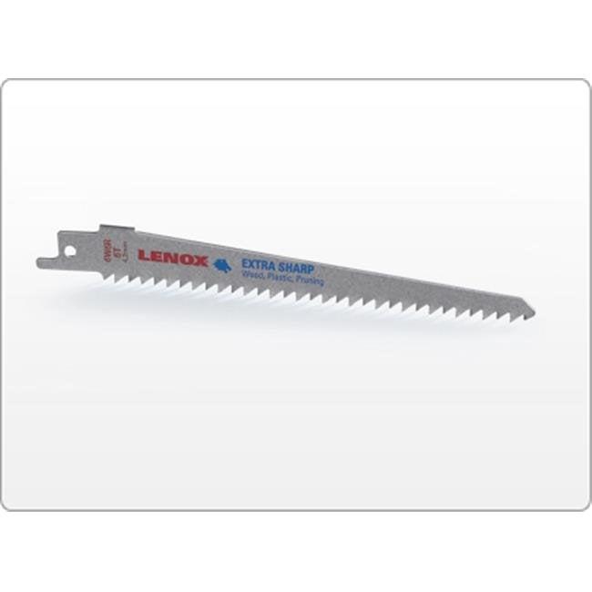 "LENOX 121016W6R 6"" L x 6 TPI Wood Cutting Steel Reciprocating Saw Blade"
