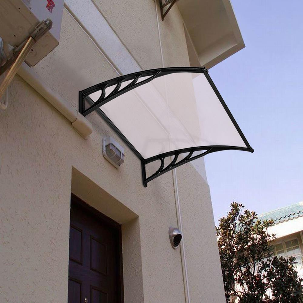 GRAY 40x 80 Patio ABS Front Door Window Awning Cover Canopy Gray