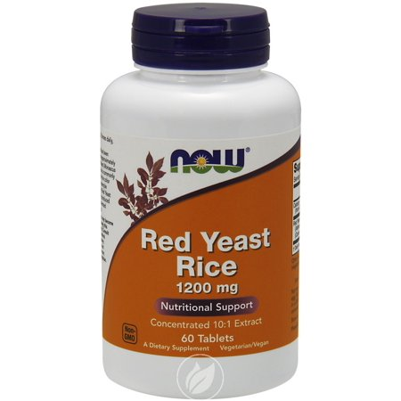- Now Foods Now Red Yeast Rice Extract 1200mg 60 Tabs, Pack of 2