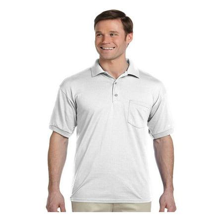 Gildan Men's Moisture Wicking Pocket Jersey Polo Shirt, Style G8900