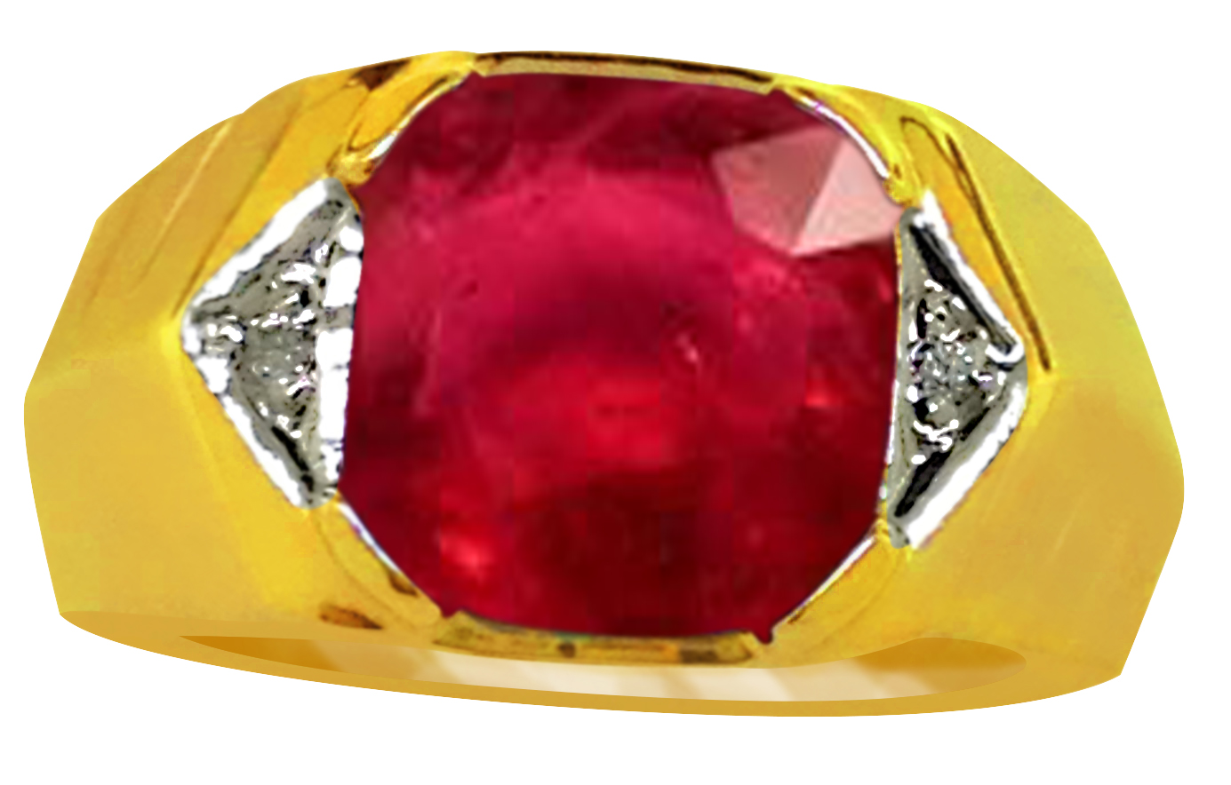 Select Gifts Grooms Man Wedding Title Gold Tie Clip Bar Red Ruby Crystal in Pouch