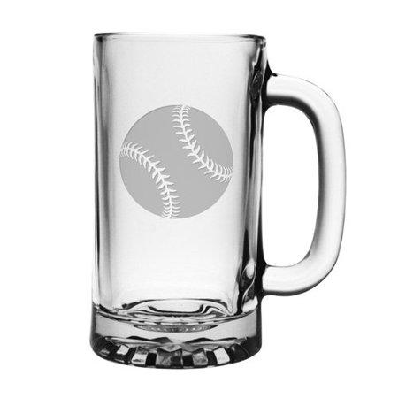 Susquehanna Glass Baseball Pub Beer Mug (Set of 4)
