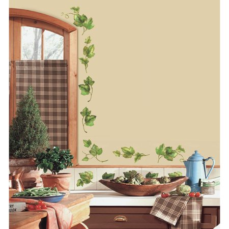 - New Evergreen Ivy Peel & Stick 38 Wall Decals Country Kitchen Decor Green Leaves Border Vines
