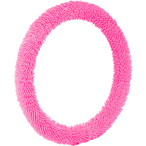 Bell Steering Wheel Cover, Shaggy Pink