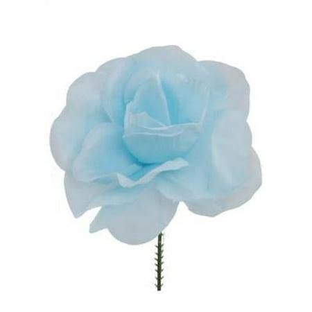 Bulls Silk - CASE OF 100 Blue Rose Bulk Silk Flower Picks - 5