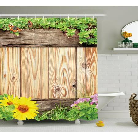 Wooden Shower Curtain Fence Garden Yard Summer Spring Da