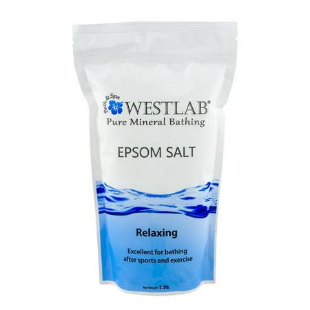 Westlab Bath & Spa Pure Mineral Bathing Epsom Salt Relaxing, 2.2 LB