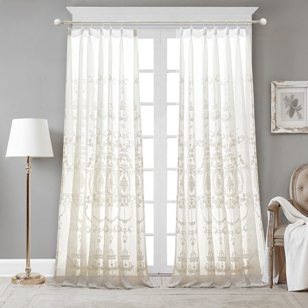 Pleated Sheer Curtains (