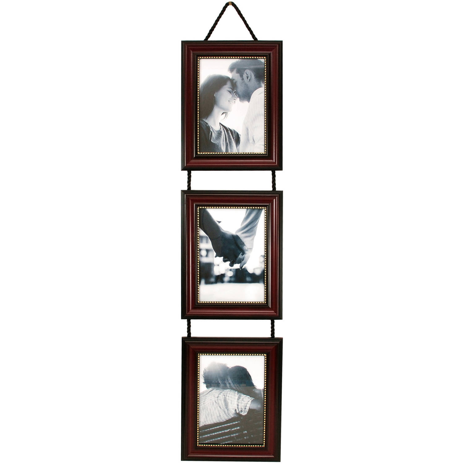 Kiera Grace Lucy Frame Set, Dark Brown with Gold Beading on Hanging Ribbon