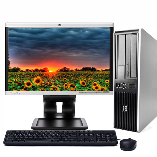 "HP Desktop Computer Bundle Tower PC Core 2 Duo Processor 4GB RAM 250GB Hard Drive DVD-RW Wifi with Windows 10 and a 19"" LCD Monitor-Refurbished Computer with 1 Year Warranty!"