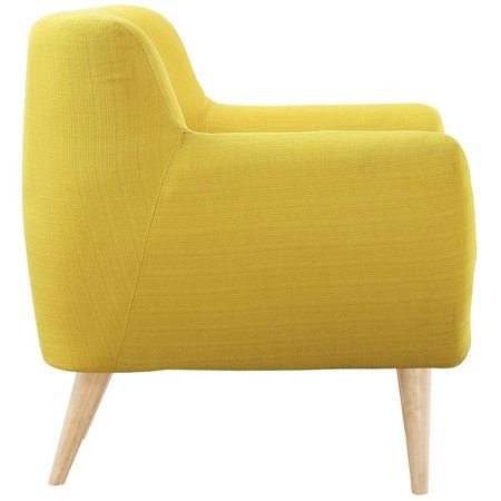 Hawthorne Collections Upholstered Accent Chair in Sunny - image 1 of 5