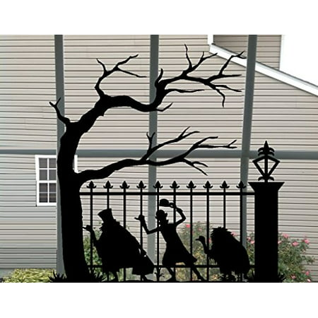 Decal ~ Ghost Halloween (Hitchhiking) #1 ~ Wall or Window Decal (13