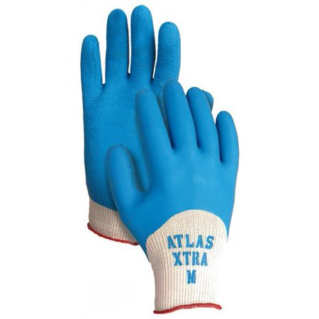 305 Atlas Xtra Gloves - Medium, Extended coating adds back of hand protection By Atlas Glove
