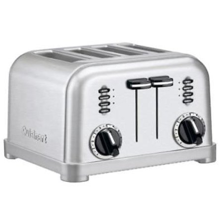 NEW Cuisinart 4 Slice Metal Classic Toaster Dual Control Panels Make This