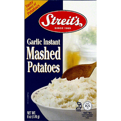 Streit's Garlic Instant Mashed Potatoes, 6 oz, (Pack of 12)