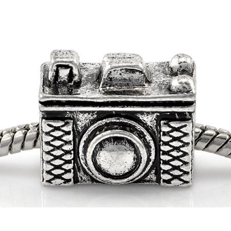 Vintage Camera Charm Bead. Compatible With Most Pandora Style Charm Bracelets.