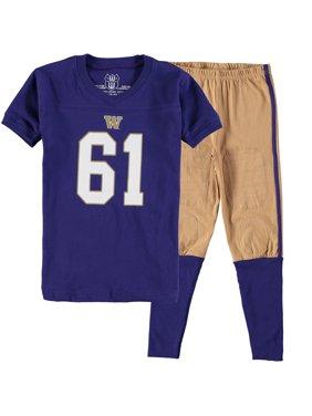 Washington Huskies Wes & Willy Youth Football Pajama Set - Purple