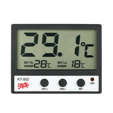 LCD Digital Fish Tank Aquarium Thermometer Water Temperature Meter °C/°F High/Low Temperature Alarm (Fish Tank Alarm)