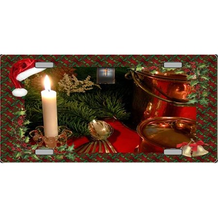 XMAS-10 Holiday Setting Full Color License Plates - Full Color Plates