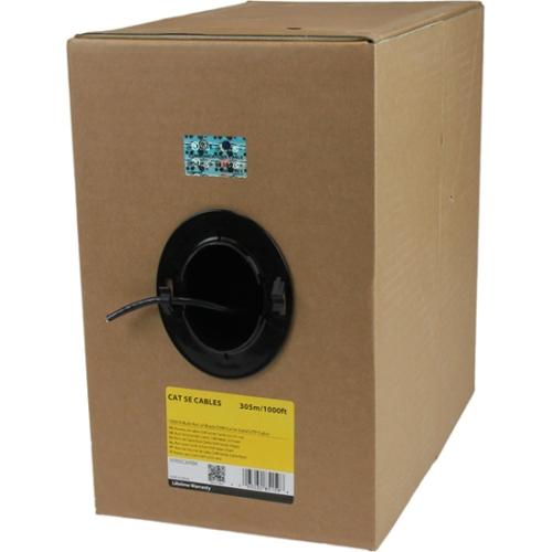 StarTech 1000' Bulk Roll of CMR Cat5e Solid UTP Riser Cable, Black