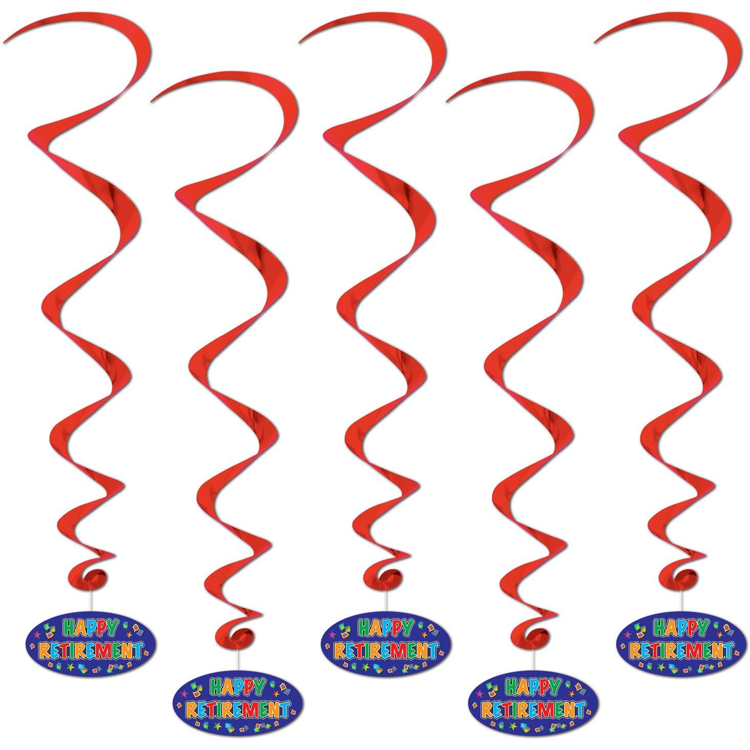 Happy Retirement Whirls (Pack of 6)