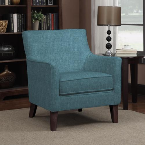 PORTFOLIO  Waldron Caribbean Blue Linen Arm Chair