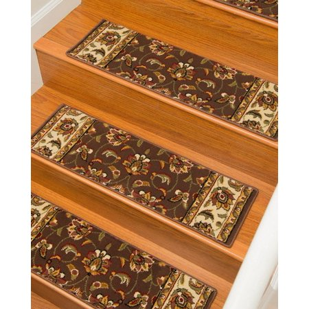 Natural Area Rugs 100% Natural Fiber Summit, Polypropylene Brown/Multi, Handmade Stair Treads Carpet Set of 2 (9