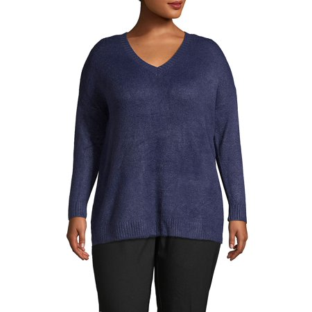 Plus V-Neck Sweater Plus Size Maternity Sweaters