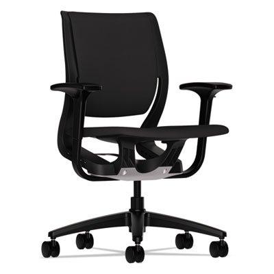 Purpose Upholstered Flexing Task Chair  Black Black  Sold As 1 Each