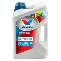 Valvoline Daily Protection SAE 10W-30 Conventional Motor Oil, Easy-Pour 5 Quart