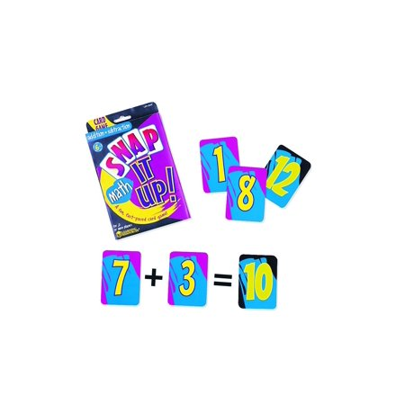 Learning Resources Snap It Up! Math: Add/Sub Card Game - Math Games 2