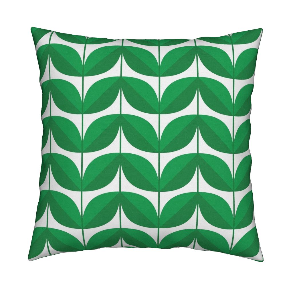Retro Floral Mid Century Modern Throw Pillow Cover w Optional Insert by Roostery