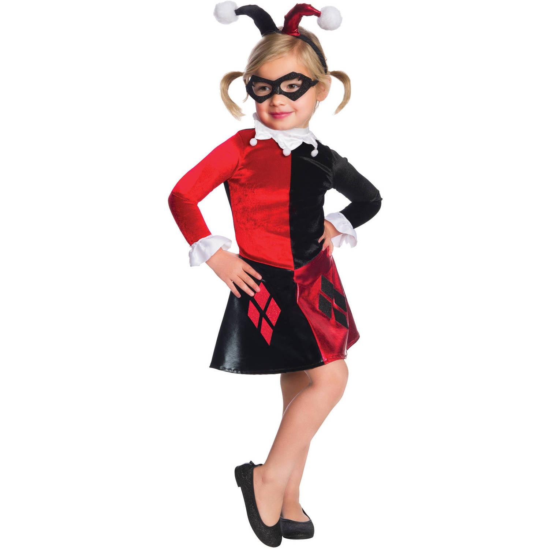 """DC """"Harley Quinn"""" Child Velvet Deluxe Dress Halloween Costume"""