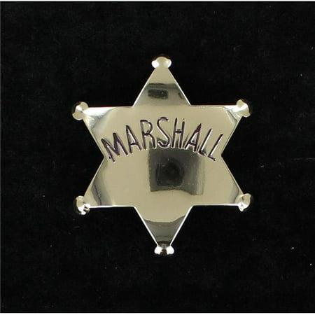 M&F Western 2820636 Badge Marshall, Silver