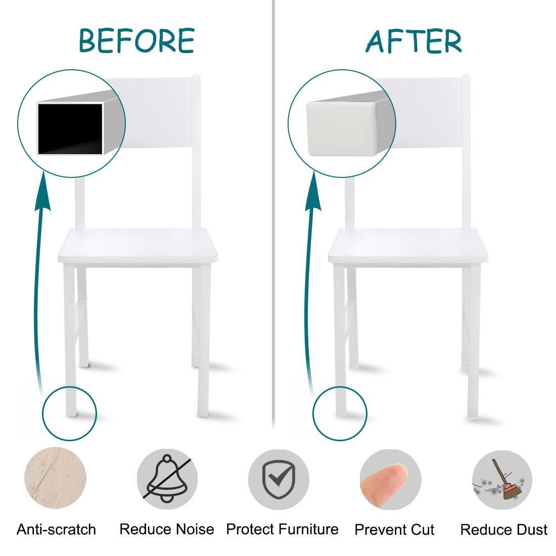 12pcs 40 x 60mm Plastic Rectangle Ribbed Tube Inserts End Cover Cap Table Feet - image 4 de 7