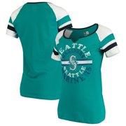Seattle Mariners New Era Women's Scoop Neck T-Shirt - Aqua