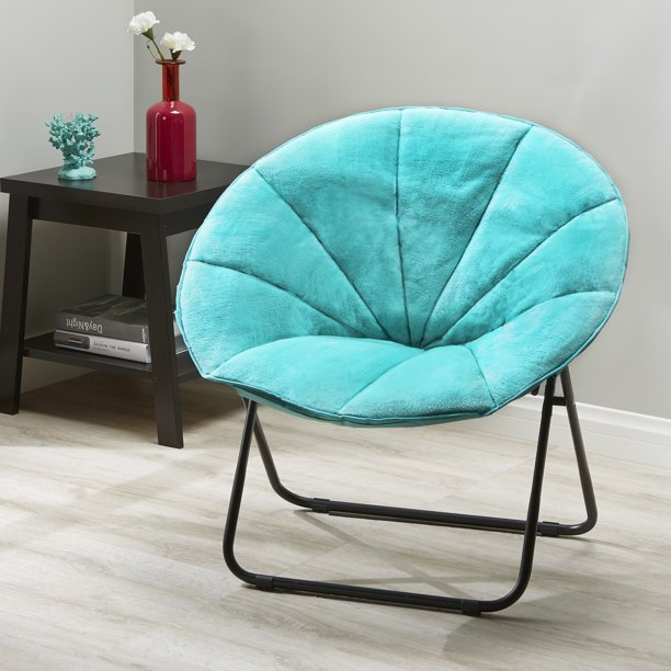 Mainstays Folding Plush Saucer Chair Multiple Colors
