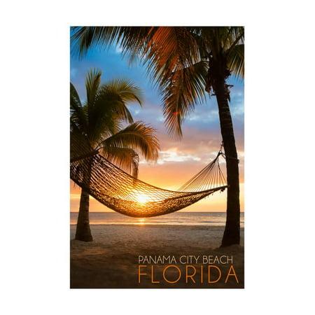 Panama City Beach, Florida - Hammock and Sunset Print Wall Art By Lantern - Halloween Panama City 2017