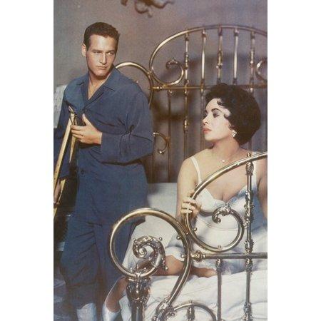 Elizabeth Taylor & Paul Newman Color 24x36 Poster Cat on a Hot Tin