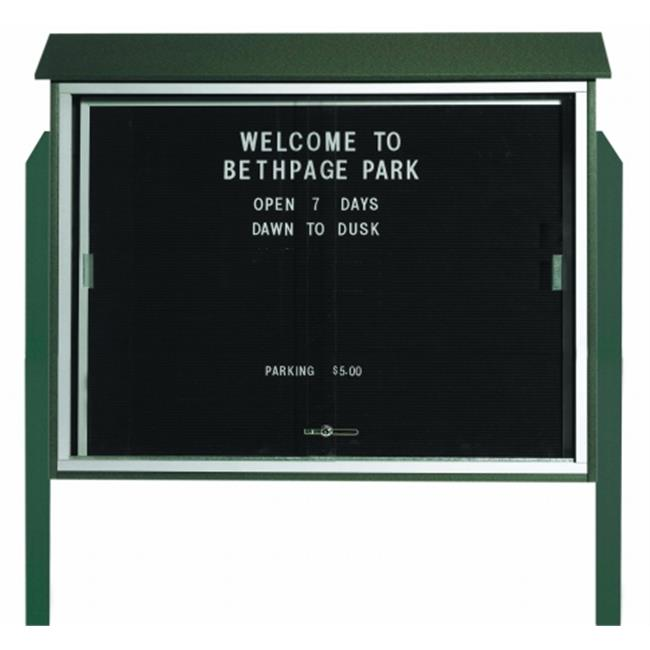 Aarco Products Inc.  Sliding Door Plastic Lumber Message Center with Letter Board