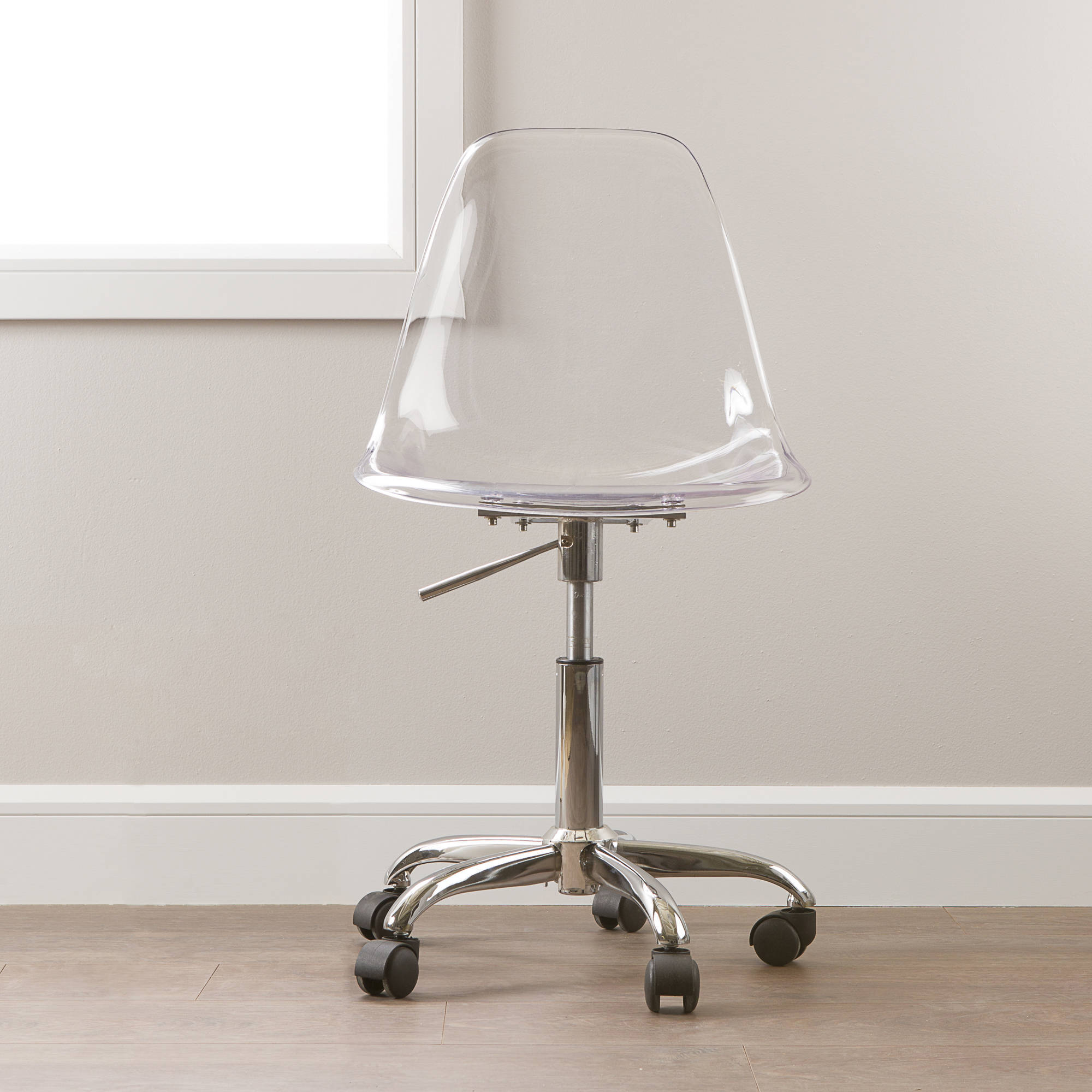 clear office chairs. South Shore Annexe Clear Office Chair With Wheels, Multiple Colors Chairs O