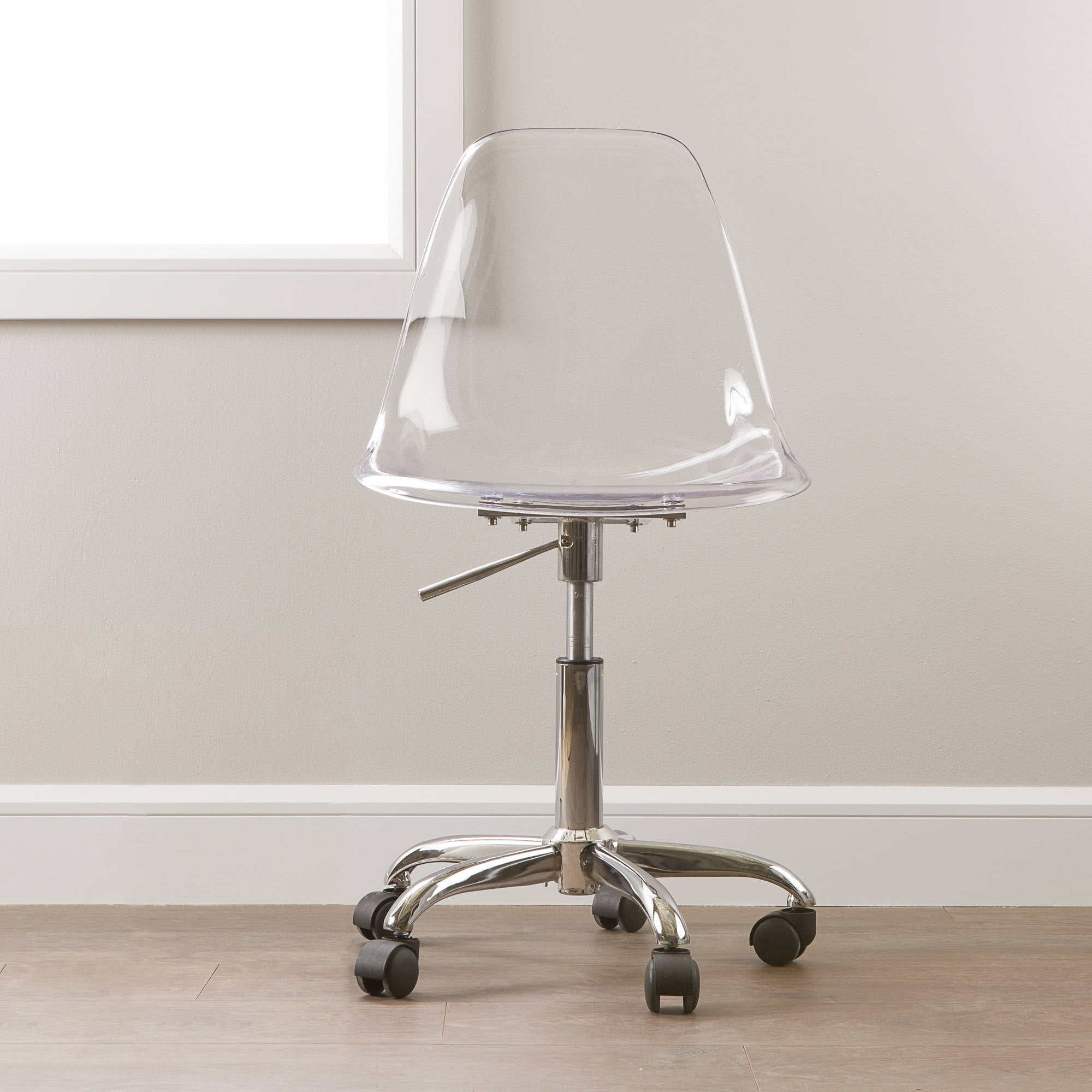 south shore clear acrylic office chair with wheels acrylic office chair