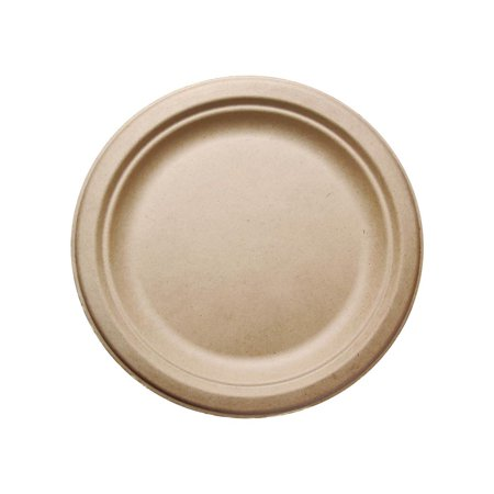 500 pcs 9 in round disposable plates natural sugarcane bagasse
